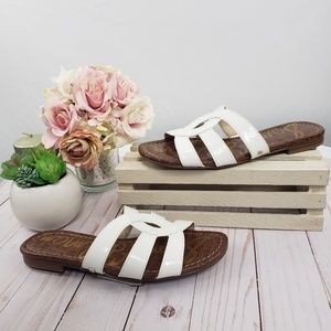 Sam Edelman White Bryna Slide Sandals
